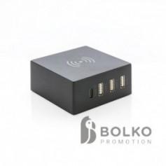 USB és 10W-os vezeték nélküli töltő