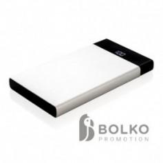 6000 mAh lapos powerbank digitális kijelzővel
