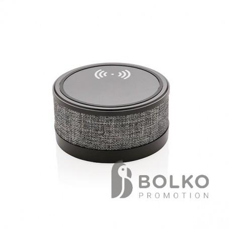 Szövet borítású vezeték nélküli töltő hangszóróval