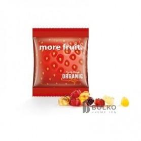 Egyedi kis csomagolásban kapható vegán gumicukor mackók, gyümölcsös ízesítéssel.