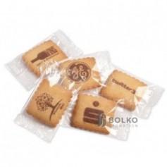 Klasszikus vajas keksz átlátszó csomagolásban