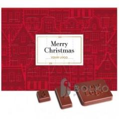Adventi naptár 1 db emblémázható csokoládéval