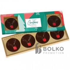 Csokoládétallér rénszarvas motívummal