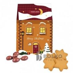 Mini házikó mézespuszedlivel vagy karácsonyi gyömbéres csillagokkal