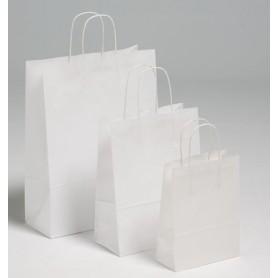 Fehér sodrottfüles papírtáska