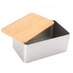 Fém doboz bambusz tetővel