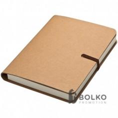 Jegyzetfüzet barna gumipánttal