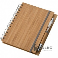 A5 bambusz borítós füzet