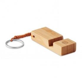 Bambusz kulcstartó telefontartóval