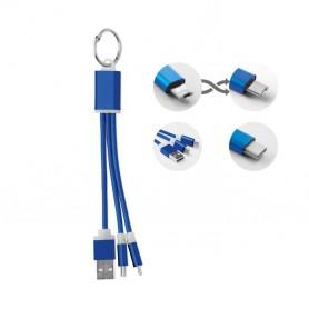 USB kábelszett kulcstartó