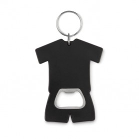 Póló alakú üvegnyitó kulcstartóval.