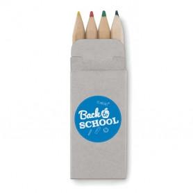 4 mini színes ceruza kartondobozban