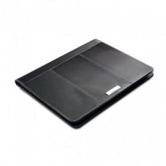 A4-es méretű fekete bőrmappa