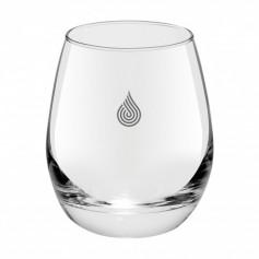 Kör alakú üvegpohár