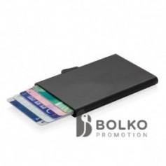 alumínium RFID kártyatartó, fekete