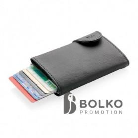 alumínium RFID kártyatartó és pénztárca, fekete