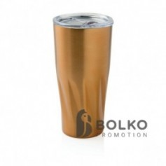 Réz vákuumszigetelt ivópohár, arany színű