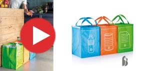 Szelektív hulladékgyűjtő táska