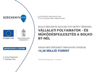 Vállalati folyamatok - és működésfejlesztés a Bolko Bt-nél